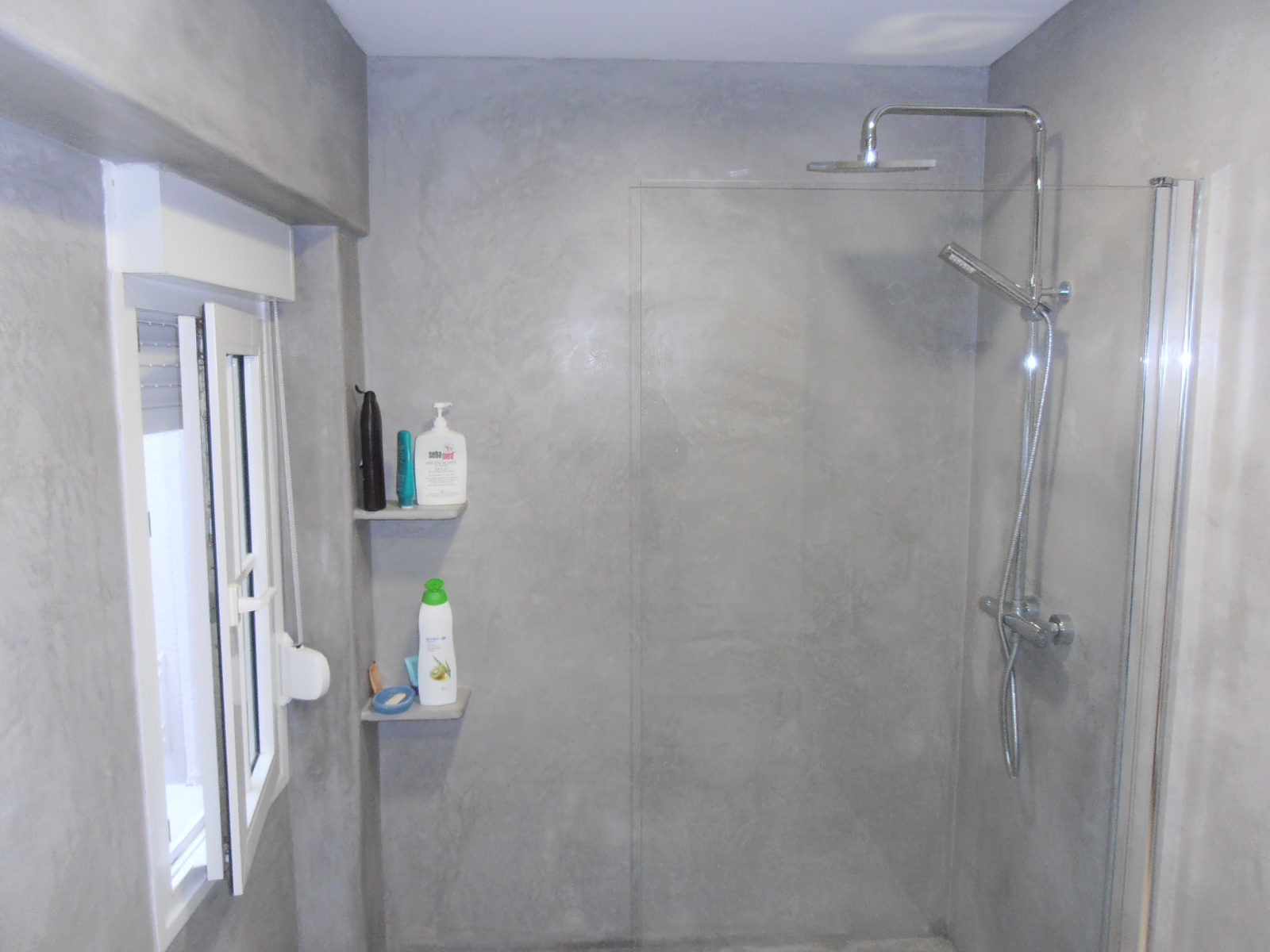 jointless bathroom remodeling, beton optic