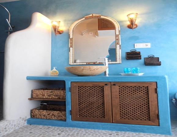 Tadelakt bathroom, Modern and luxury wall finish.