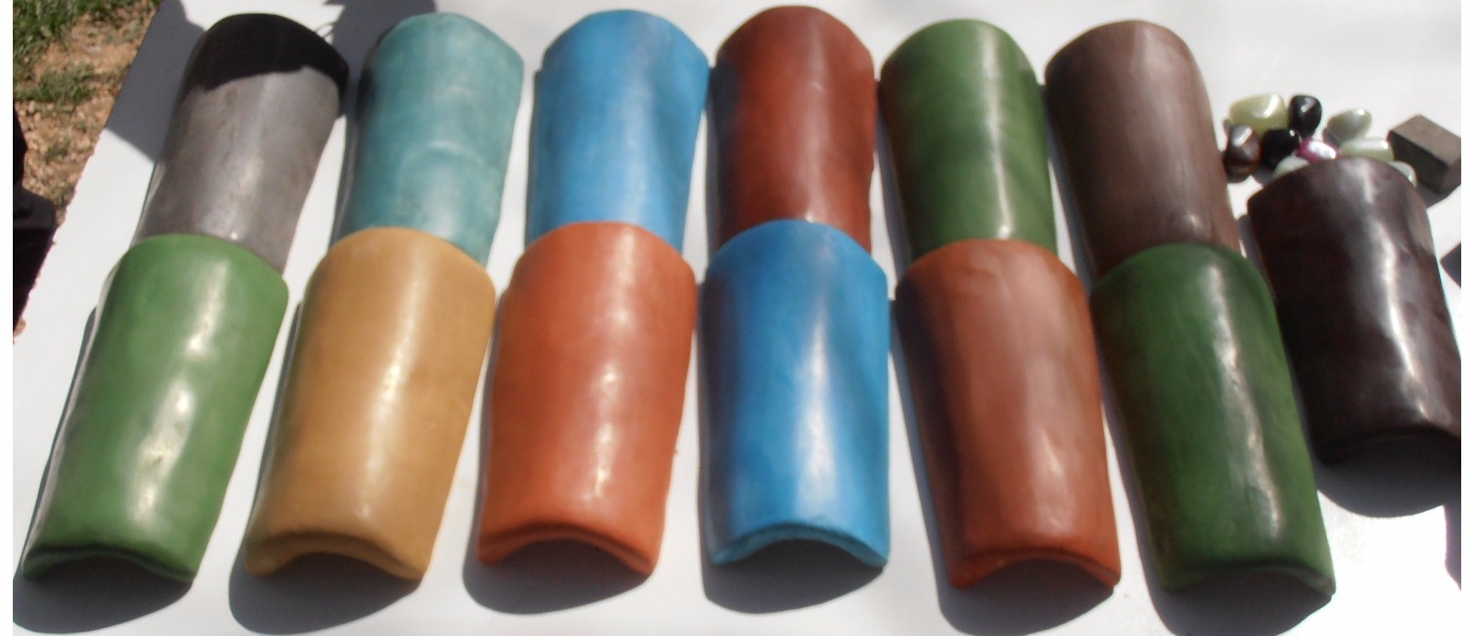 El acabado único de Easy Tadelakt, tejas de tadelakt en diferentes colores